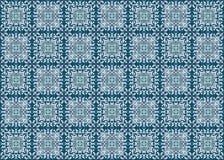 Naadloos blauw patroon Royalty-vrije Stock Foto