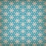 Naadloos blauw patroon met sneeuwvlokken. Royalty-vrije Stock Foto
