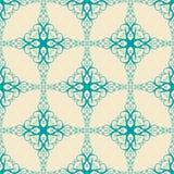 Patroon met blauwe wervelingen Stock Afbeeldingen