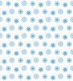 Naadloos blauw patroon van vele sneeuwvlokken op witte achtergrond CH Royalty-vrije Stock Fotografie