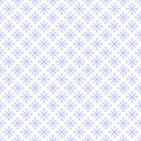 Naadloos Blauw Sneeuwvlokpatroon Stock Foto's