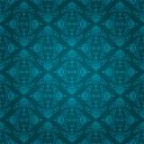 Naadloos blauw uitstekend behangontwerp Royalty-vrije Stock Foto