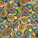Naadloos bloem retro patroon als achtergrond in vector Stock Foto's