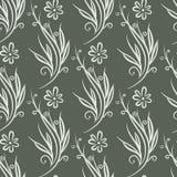 Naadloos bloemen abstract ornament vector illustratie