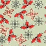 Naadloos bloemen abstract patroon Royalty-vrije Stock Afbeeldingen