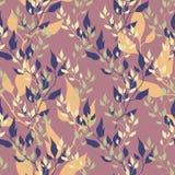 Naadloos bloemen de herfstpatroon Royalty-vrije Illustratie