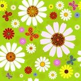 Naadloos bloemen de zomerpatroon Stock Afbeelding