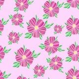 Naadloos bloemen decoratief roze kleurrijk patroon Stock Illustratie