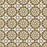 Naadloos bloemen geometrisch ornament Royalty-vrije Stock Foto