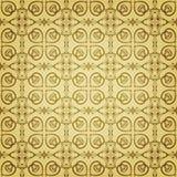 Naadloos bloemen gouden patroon Stock Afbeeldingen