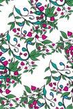 Naadloos bloemen groen patroon Vector Royalty-vrije Stock Afbeeldingen