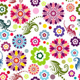 Naadloos bloemen levendig patroon Stock Foto's