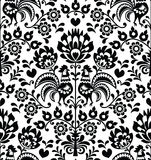 Naadloos bloemen Pools volkspatroon - Wycinanki, Wzory Lowickie Royalty-vrije Stock Foto's