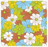 Naadloos bloemen retro patroon Stock Afbeelding