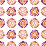 Naadloos bloemen retro patroon Royalty-vrije Stock Afbeeldingen