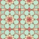 Turkoois bloemenpatroon Royalty-vrije Stock Fotografie