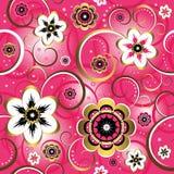 Naadloos bloemen roze patroon Stock Fotografie
