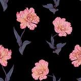 Naadloos bloemen uitstekend patroon met tulpen Stock Foto
