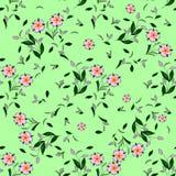Naadloos bloemen vectorpatroon voor ontwerp Stock Foto