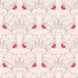 Naadloos bloemen wevend patroon Zachte achtergrond zonder transparantie Stock Afbeelding