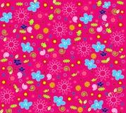Naadloos bloemenbehang Stock Foto