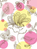 naadloos bloemenbehang Stock Afbeelding