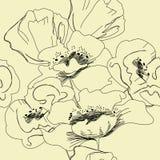 Naadloos bloemenbehang Royalty-vrije Stock Foto