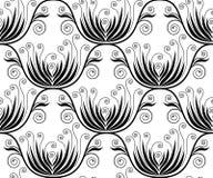 Naadloos bloemenbehang Stock Fotografie