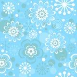 Naadloos bloemenKerstmispatroon vector illustratie