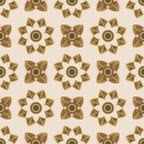 Naadloos bloemenornament Geometrische vormen Royalty-vrije Stock Afbeelding