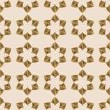 Naadloos bloemenornament Geometrische vormen Royalty-vrije Stock Foto