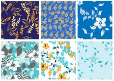 Naadloos bloemenpatroon Royalty-vrije Stock Afbeelding