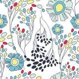 Naadloos bloemenpatroon Royalty-vrije Stock Foto's