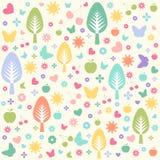 Naadloos bloemenpatroon, behang Stock Afbeeldingen
