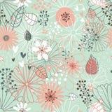 Naadloos bloemenpatroon. Bloementextuur. royalty-vrije illustratie