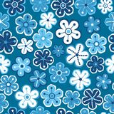 Naadloos BloemenPatroon De textuur van bloemen Daisy Royalty-vrije Stock Afbeelding