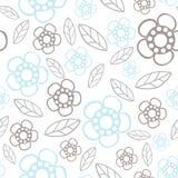 Naadloos BloemenPatroon De textuur van bloemen Daisy Stock Afbeeldingen