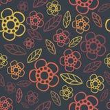 Naadloos BloemenPatroon De textuur van bloemen Daisy Stock Afbeelding