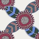Naadloos bloemenpatroon, decoratieve achtergrond Royalty-vrije Stock Afbeelding
