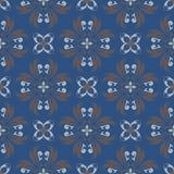 Naadloos BloemenPatroon Donkerblauwe achtergrond met bloemontwerpen Royalty-vrije Stock Afbeelding