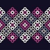 Naadloos BloemenPatroon Geometrische Achtergrond Decoratief bloemenornament Stock Afbeelding
