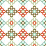 Naadloos BloemenPatroon Geometrische Achtergrond Decoratief bloemenornament Royalty-vrije Stock Foto's