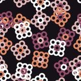 Naadloos BloemenPatroon Geometrische Achtergrond Decoratief bloemenornament Stock Foto's