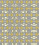 Naadloos bloemenpatroon, grijze, en gele bloemen op een grijze achtergrond Stock Foto