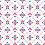 Naadloos bloemenpatroon met abstracte bloemen Royalty-vrije Stock Afbeelding