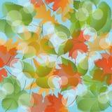 Naadloos bloemenpatroon met bladeren Stock Fotografie
