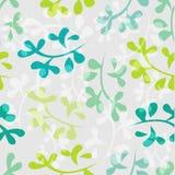 Naadloos bloemenpatroon met bladeren Stock Afbeelding