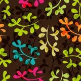 Naadloos bloemenpatroon met bladeren Stock Foto's