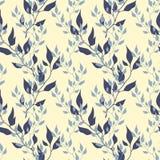 Naadloos bloemenpatroon met bladeren Vector Illustratie