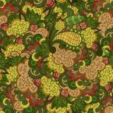 Naadloos bloemenpatroon met bladeren en takken Royalty-vrije Stock Afbeelding